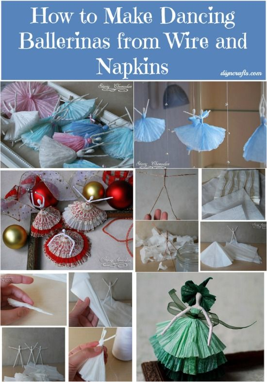 How to Make Dancing Ballerinas from Wire and Napkins...