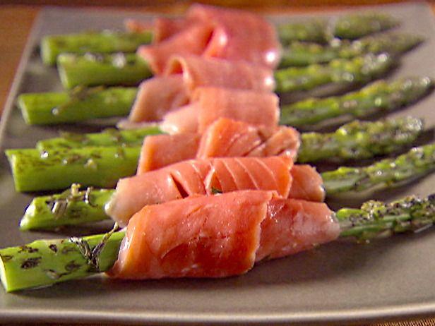 Salmon smoke asparagus.... :D