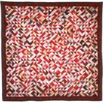 Genome Quilts--seriously, each block represents a base from DNA (thymine, cytosine, guanine, and adenine). This quilt represents an entire gene sequence for a red cone pigment gene.