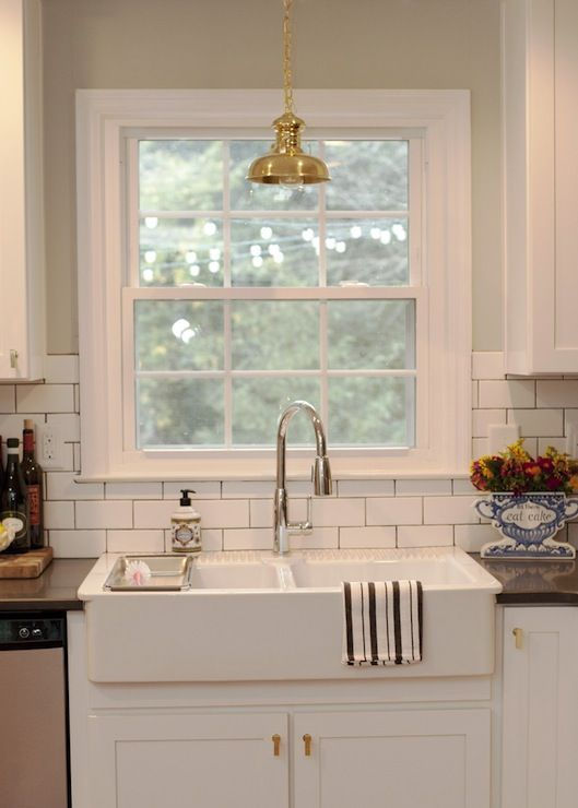 Source The Every Girl Jessie Epley Kitchen Features Vintage Brass Light Pe