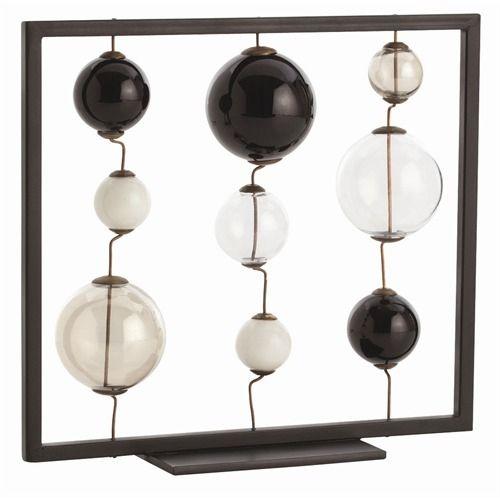 iron, brass & glass sculptureDecor, Ironbrassglass Sculpture, Glasses Sculpture, Shops, Vintage Wardrobe, Buy Arteriors, Rainer Ironbrassglass, Black Glasses, Vintage Finding