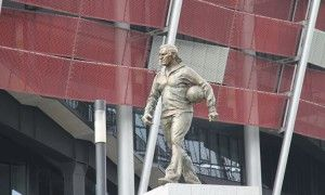 Odsłonięcie pomnika Kazimierza Górskiego przy Stadionie Narodowym