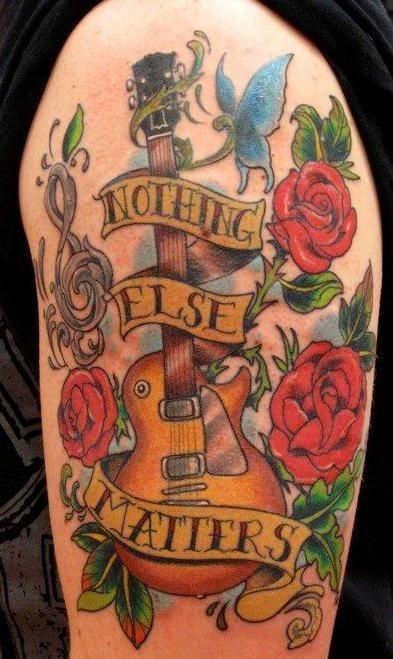 guitar tattoo roses - חיפוש ב-Google