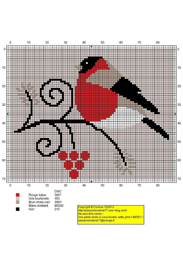 X-stitch pattern- redbird Oiseau-arabesques.jpg SOURCE MULTI                                                                                                                                                      Mais