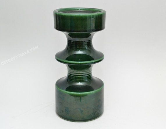 Large green  candle holder by Steuler designed by by RetroFatLava, €55.00