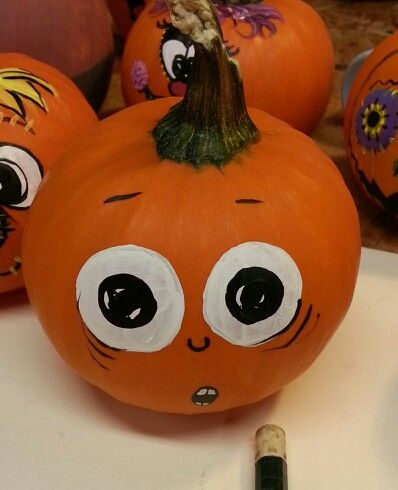 1000 images about painted pumpkins squash by renee for Surprised pumpkin face