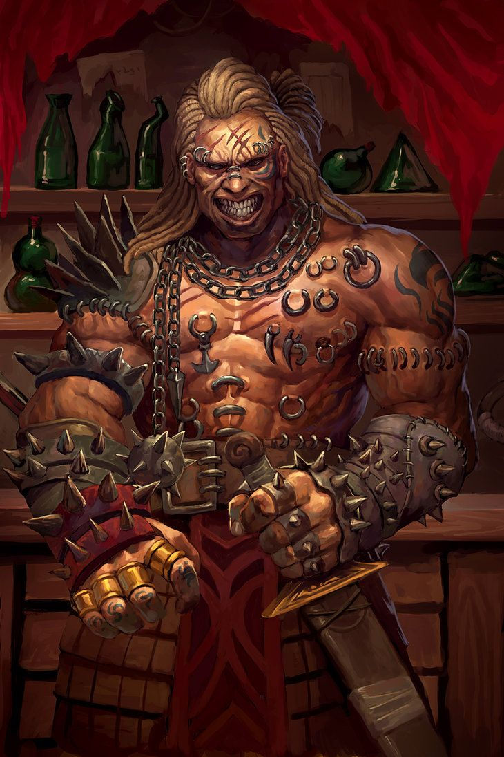 Wulfgar, the Savage of the Glaciem, before becoming an undefeated champion of the Arena. (Dungeons and Dragons by LASAHIDO)