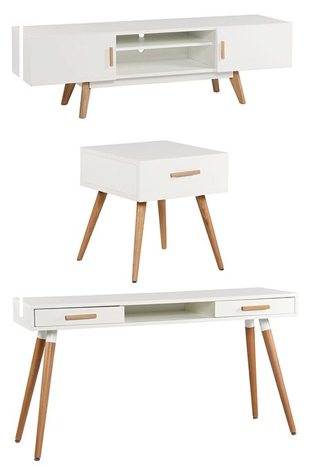 The Stockholm range from Mr Price Home offers clean lines and an urban contemporary look that is a stylish choice for the modern home. The pieces are manufactured using MDF with a Duco finish and have pine legs. Some assembly is required for all the individual items in the Stockholm range.