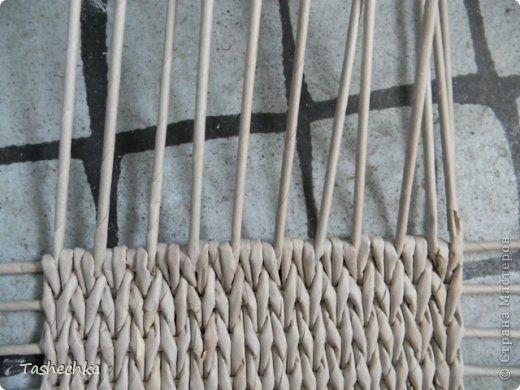 Мастер-класс Материалы и инструменты Плетение Как сплести аккуратное прямоугольное или квадратное дно Трубочки бумажные фото 10