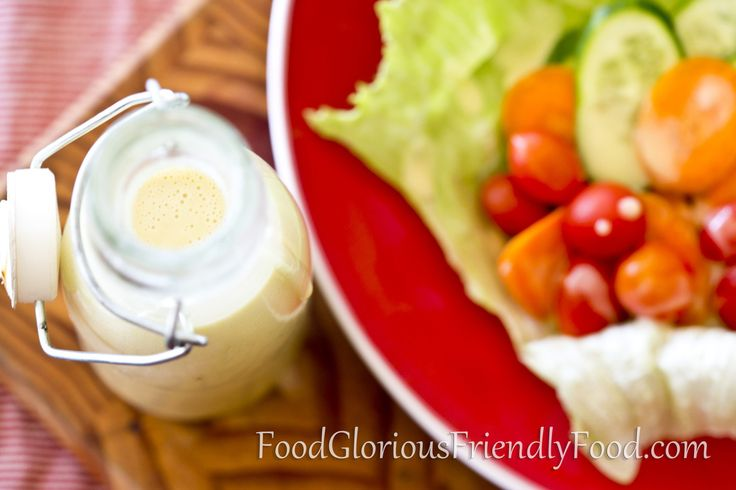 All Purpose Salad Dressing- made with egg, healthy oils, mustard and honey.  This is a great base to add other things to for various salads.  Included is instructions to turn it into Coleslaw dressing and Tartare Sauce.  http://www.foodgloriousfriendlyfood.com/1/post/2014/02/all-purpose-salad-dressing.html
