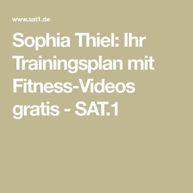 Sophia Thiel: Ihr Trainingsplan mit Fitness-Videos gratis - SAT.1