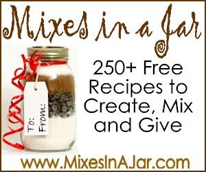 Mixes in a Jar recipes for christmas gifts.