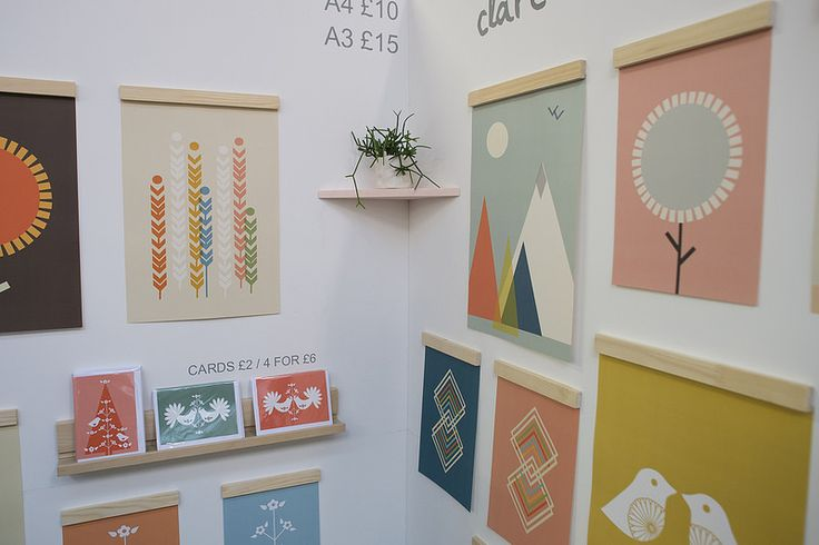Beautiful clean display for paper goods at the London Winter Market,