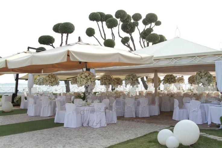 Matrimonio all aperto a Napoli. Il magico giardino di Villa Posillipo
