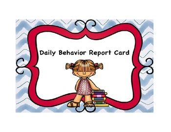 This daily behavior report card is a check-in check- out intervention implemented with students who are at risk for, but not currently engaging in, serious problem behaviors.  This form is ideal for teachers to take data on students behavior during school, and students can easily understand how they are performing in each class they attend.
