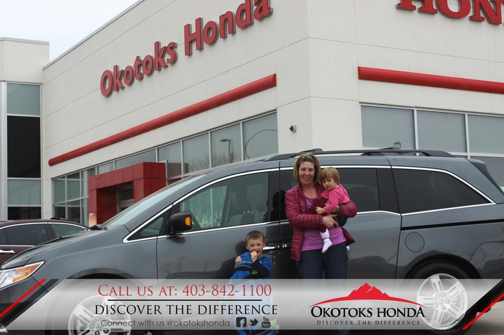 The Berthiaume Family and their Honda Odyssey - thanks to Harry Loewen. Welcome to the OH Family! Call Okotoks Honda at 403.842.1100 for your any of your vehicle or service maintenance needs.
