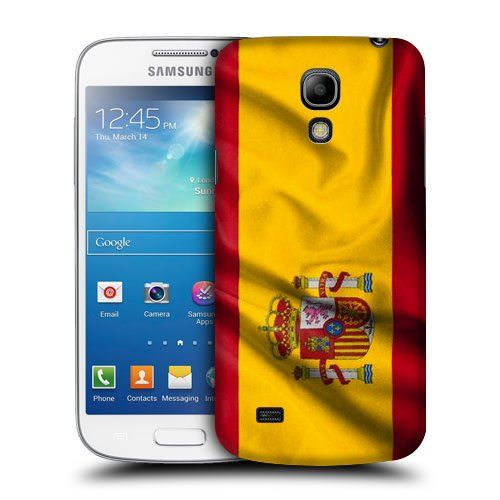 #Case Fun Case Fun Flag of Spain Style 2 Snap-on Hard Back Case Cover for Samsun Galaxy S4 Mini (I9190)
