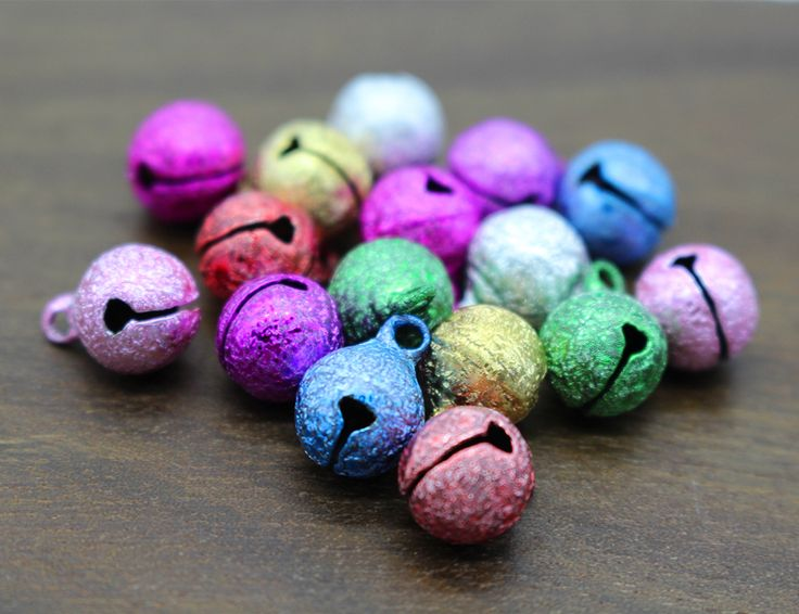 8 10 12mm Mix Color Jingle Bell Small Bells Copper Metal Fit Festival Jewelry Pendants Charm Beads Christmas Jingle Bells-in Beads from Jewelry & Accessories on Aliexpress.com | Alibaba Group