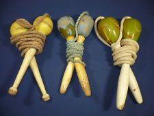 Ancien jeu 3 cordes à sauter en bois Jouets anciens Vintage toy jump rope corde