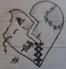 Pin By Deshna Jain On Doodles In 2019 Broken Heart Drawings