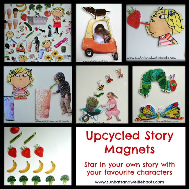 Upcycled Story Magnets