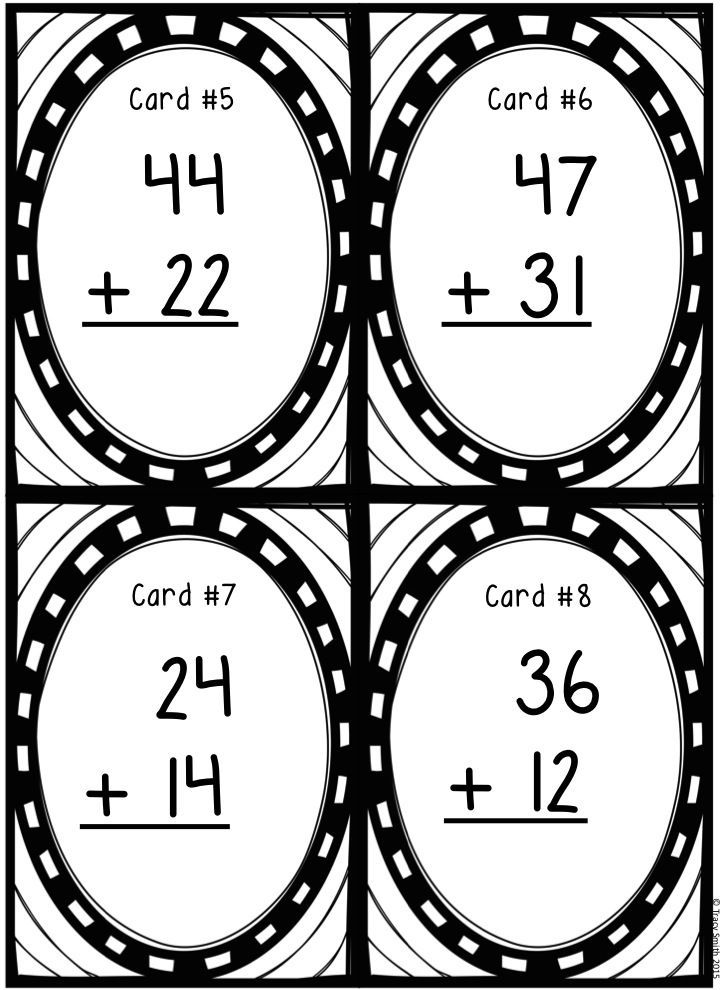 Two-Digit Addition Task Cards - Grades 2-3