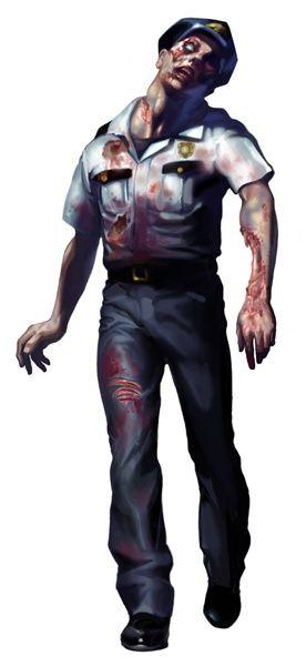Police Zombie - Resident Evil 2 Concept Art