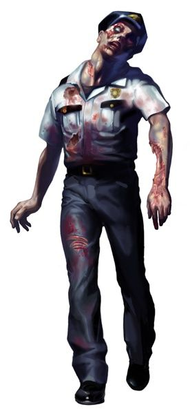 Police Zombie - Resident Evil 2 Concept Art