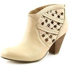 Carlos by Carlos Santana Keller Women Round Toe Leather Nude Ankle Boot.