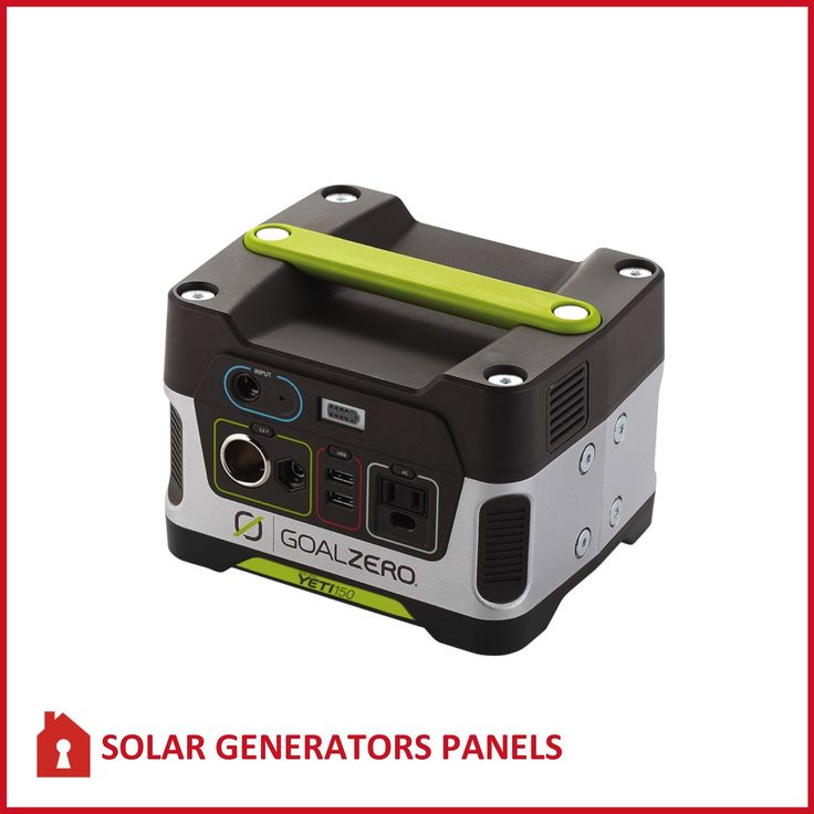 The Goal Zero Yeti 150 Solar Generator is a plug-and-play, silent, fume-free generator for emergencies, camping, or wherever you need power.
