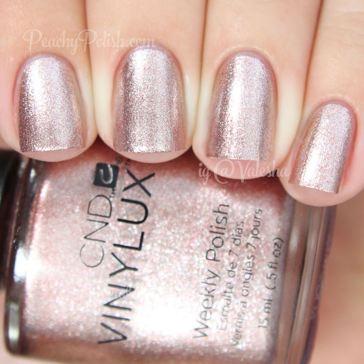 CND VINYLUX Chiffon Twirl | Holiday 2014 Gilded Dreams Collection | Peachy Polish