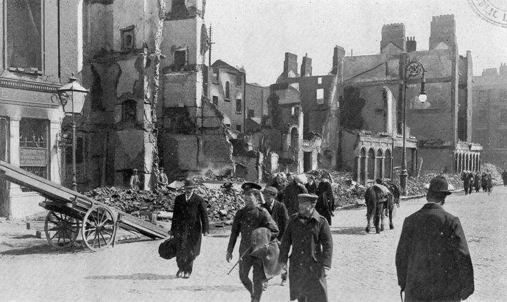 Image of Eden Quay 1916 - courtesy of Dublin City Public Libraries