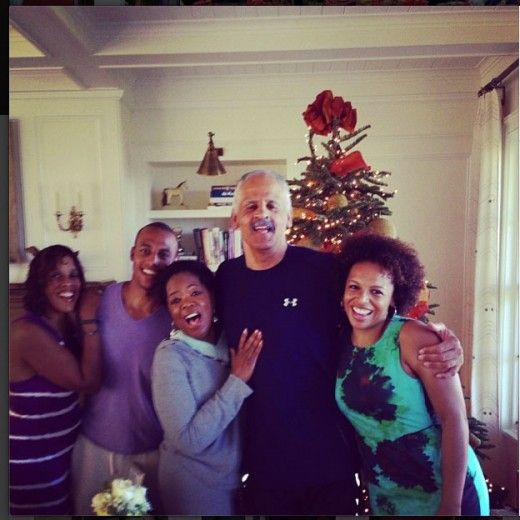 Oprah spent Christmas with her boyfriend Stedman Graham and best friend Gayle King and her children