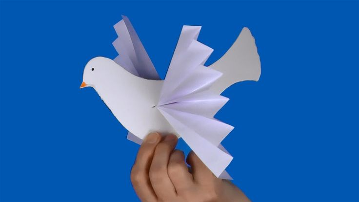 Fun and easy to make, this paper craft can be used as a wedding decoration, a Christmas ornament or a peace dove symbol.  Printable document at  ...    Music: Far Behind (YouTube Audio Library). How, Paper, Make,