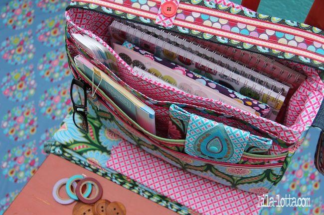 Purple-Lotta.com, lovely bag. Love the fabrics
