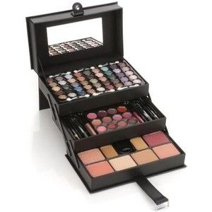 Gezien op beslist.nl: Merkloos Make-up leren-look koffer 81-delig