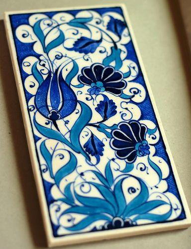 Handmade Iznik tile, Istanbul, Turkey