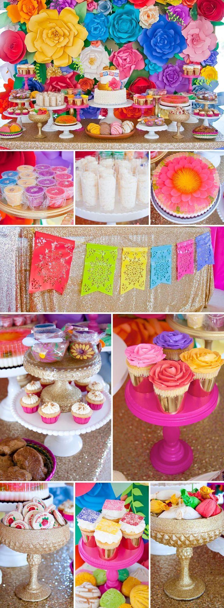 Colorful Baby Shower Inspired by Mexican Culture | Un baby shower inspirado en los colores de México #decoracionbabyshower