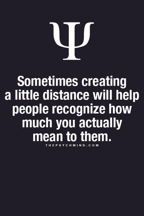 Sometimes creating a little distance will help...