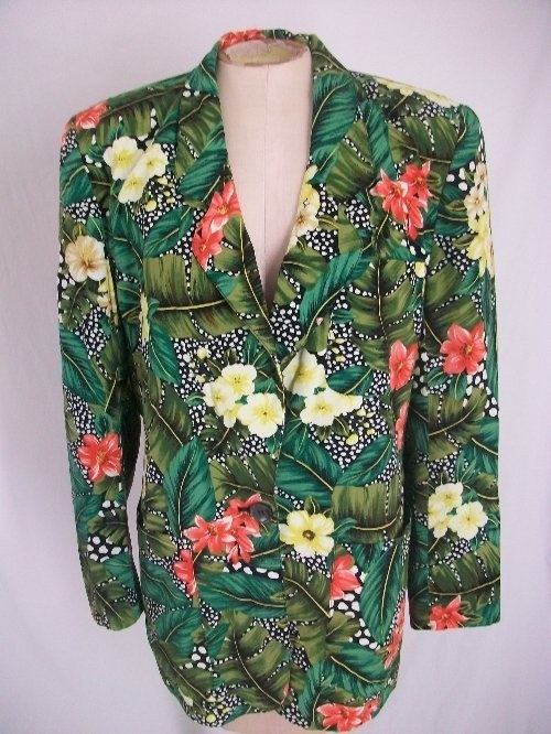 Liz Claiborne tropical floral jacket