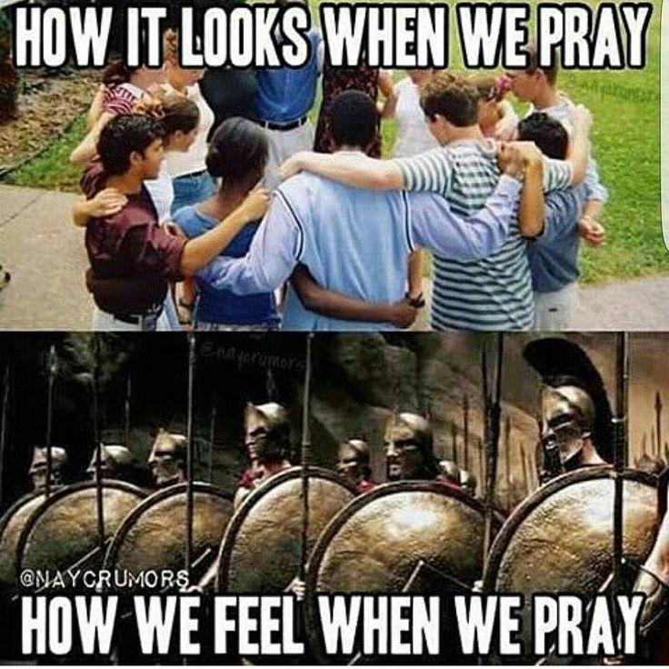 Pray no matter what anyone thinks