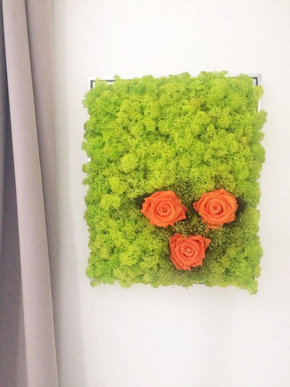 geconserveerd mos geconserveerde oranje rozen metalen