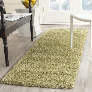 Safavieh California Cozy Solid Green Shag Rug (6'7 Round) | Overstock.com Shopping - The Best Deals on Round/Oval/Square