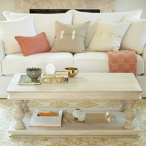 whitewash coffee table