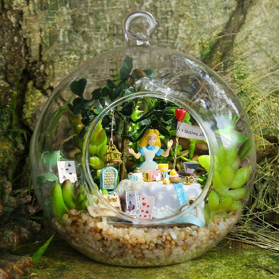 Alice in Wonderland Terrarium Kit on Etsy. but $60 is insane