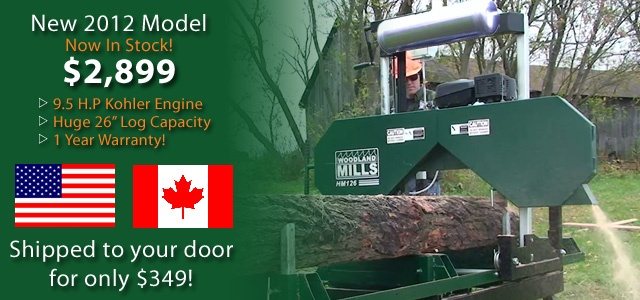 Portable Sawmills for sale. Woodland Mills Ontario Canada