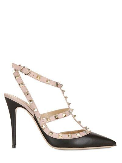 Valentino Studded Heels #valentino #2015 #shoes #heels #studded #luisaviaroma #black