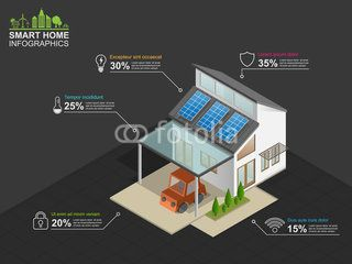 Smart home  infographics, vector