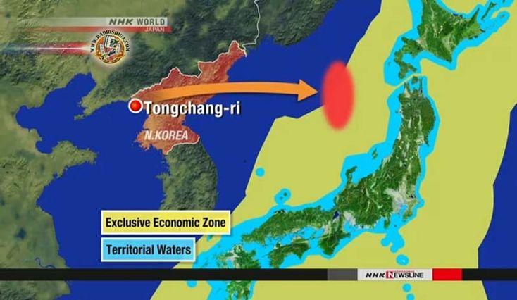 Teste de mísseis da Coréia do Norte tiveram como alvo militares dos EUA no Japão. A Coréia do Norte relatou que disparou quatro mísseis balísticos, simultan
