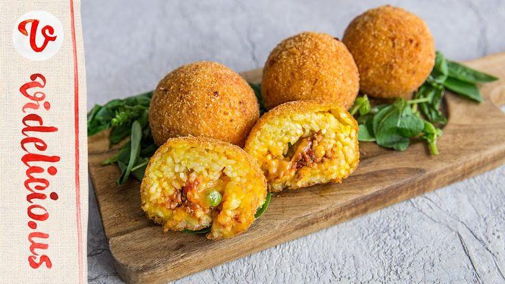 とろ〜りチーズと手作りミートソースがたっぷり入ったイタリアのライスコロッケ♪アランチーニ|How to make Italian Arancin...